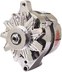 Powermaster chrome alternator, for 65-73 Mustang