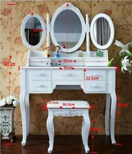 Vella Dressing Table with Stool,Mirrors & Drawers Brand new Rockdale Rockdale Area Preview