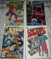 4) MARVEL COMIC BOOKS FROM THE 1990's