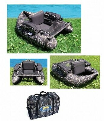 Lineaeffe Camo Pattern Belly Boat (kick boat, float tube) for game,trout fishing