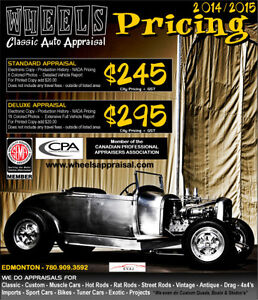 Classic - Custom - Muscle Car - Hot Rod - Race - APPRAISALS