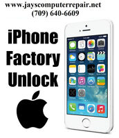 Factory IMEI Unlock iPhone Service Located in Corner Brook, NL