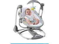 Bright stars 2 in 1 baby chair/swing