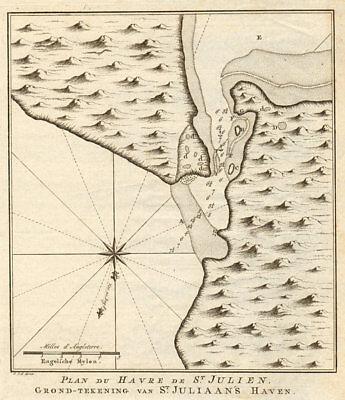 'Plan du havre de St. Julien' Puerto San Julian Argentina BELLIN/SCHLEY 1757 map