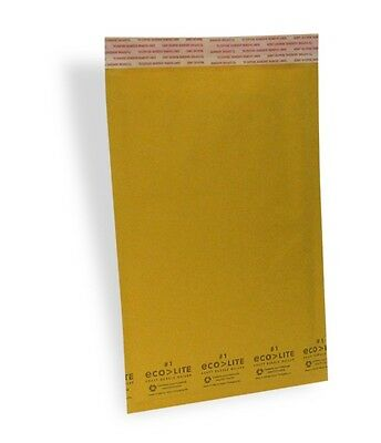 100 1 7.25x12 X-wide Ecolite Usa Kraft Bubble Mailer Envelopes From Theboxery