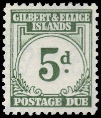 """GILBERT & ELLICE J5 (SG D5) - Numeral of Value """"Postage Due"""" (pf31946)"""