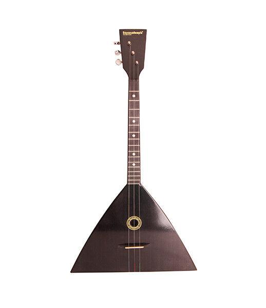 Black Fedor Electro-acoustic balalaika compact three-string, black, Balalaiker