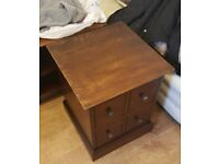 Bedside wooden table