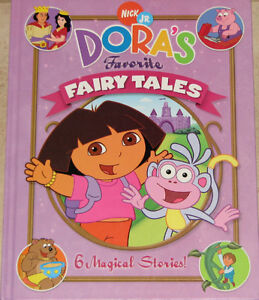 Qty 2 x Dora's 6 Favorite Fairy Tales Large Hard Cover Books