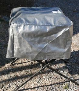 Weatherproof cover for portable table saw