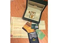 Rolex Gold Datejust Oyster Perpetual Watch Excellent Condition + Box + Papers Not AP