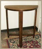 VINTAGE -- HALF MOON TABLE
