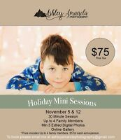 Winter/Holiday Mini Sessions $75