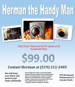 Dryer and vent cleaning  Cambridge Kitchener Area image 1