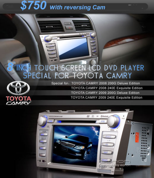 Car Stereo, BT, GPS , For all Japanese cars  ONE YEAR