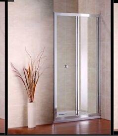 800x1850 chrome bifold shower door