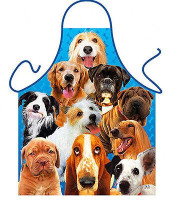 Dogs K-9 puppy dog kitchen apron animal lover gag gifts Polyester one size ITATI