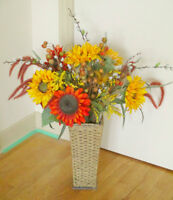 Artifical Flower Arrangement (Sunflowers) with Stand