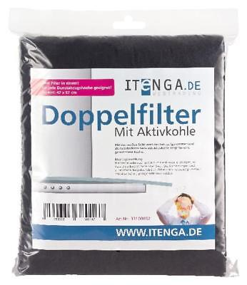 itenga Aktiv Kohlefilter Doppel Fettfilter Filter Universal f.  Dunstabzugshaube