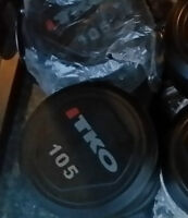 New Pair 105lbs TKO Commercial Urethane Prostyle Heavy Dumbbell