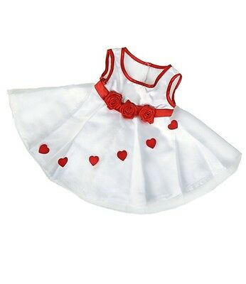 "Adorable hearts dress outfit teddy bear clothes fits 15"" Build a Bear"