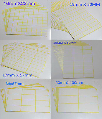 White Paper Sticker Labels Rectangle Blank Labels Self Adhesive Address Labels