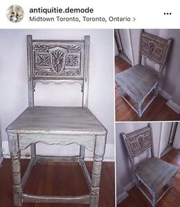One of a Kind, Shabby Chic Wooden Chair