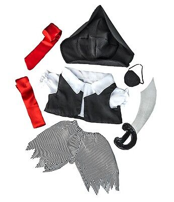 """Pirate Costume Outfit / Teddy Clothes To Fit 15"""" build a bear plush"""
