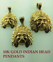 10K GOLD INDIAN HEAD PENDANTS