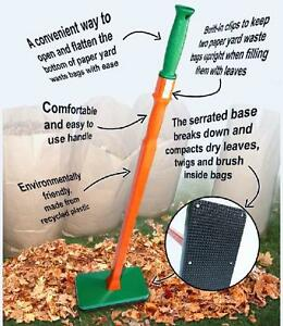 New leaf pactor leaf bag compactor lawn and garden tool for Gardening tools toronto