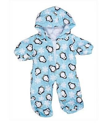 "Penguin hoodie pyjamas pjs outfit teddy bear clothes fits 15"" Build a Bear"