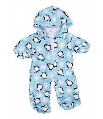 """Penguin onesie hoodie pyjamas pjs teddy clothes fit 15"""" build a bear"""