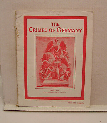 World War I Book- Crimes of Germany- 100 Pages from UK w Photos (L7578-ARRI)