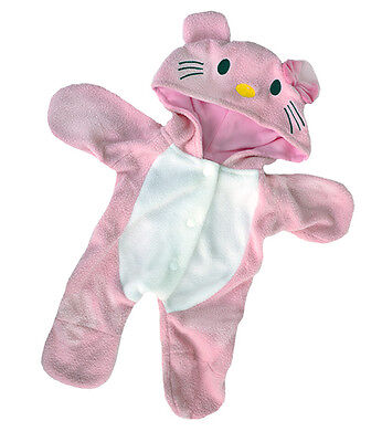 "Kitty Pink cozy fleece pjs outfit teddy bear clothes fits 15"" Build a Bear"