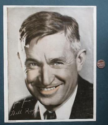 "1935 Newmarket,New Hampshire Star Theatre Will Rogers Memorial ""signed"" photo!"