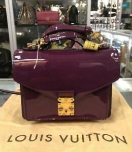 Authentic Louis Vuitton Vernis Leather Monceau BB Bag