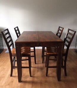 Cherry Wood Pub Style Table with Six Chairs  Belleville Belleville Area image 1
