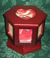 **NEW** SPINNING PHOTOS~CHERRY WOOD  JEWELRY~BOX** $ NEGOTIABLE*