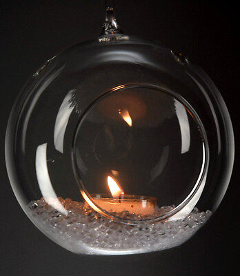 """2 3/4""""Dia Hanging Glass Globe Terrarium Candle Holder Bulk 