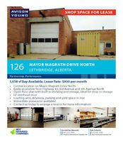 1,058 SF Shop or Storage Bay AVAILABLE IMMEDIATELY!
