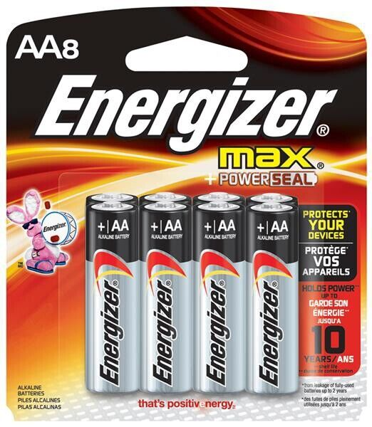 Energizer AA8 Batteries (2 Packs AA4)