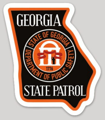 3 Inch Non-Reflective Georgia Highway Patrol State Police Logo Sticker Decal