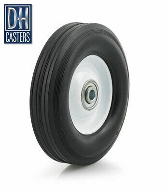 "4 DH Caster 10/"" Flat Free Wheel Tire Box Cart Dolly Hand Generator Wheelbarrow"