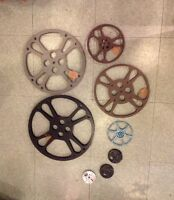 "Metal Film reels, 3"" - 17"" Goldberg and others"