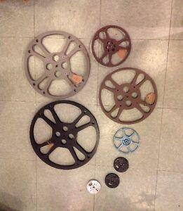 "Metal Film reels, 3"" - 17"" Goldberg and others"