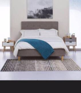 Caroline Queen Bed Frame with Oak Timber Good deal cheap price!