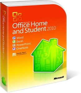 MICROSOFT OFFICE HOME AND STUDENT 2010- 3 USER FAMILY PACK (PC DVD)