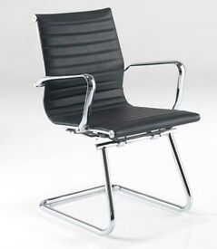 (2 left) replicas of Eames Chairs. Aria AMCA Medium Back Leather with Chrome Finish
