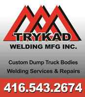 Custom dump truck bodies; welding services and repairs