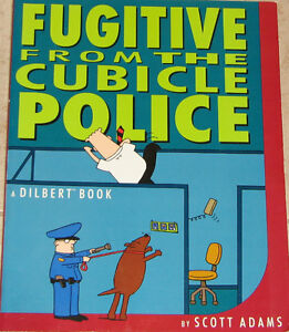 Qty 2 x Dilbert Fugitive from the Cubicle Police Comic Book London Ontario image 1